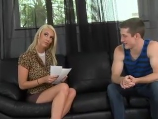 Tall Big-Titted blonde belle Nicolle have the meat stick