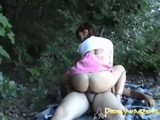 Amateur Ass Clothed European Outdoor Riding Teen