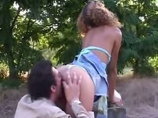 Licking Outdoor Teen