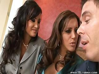 Francesca Le Lisa Ann Two Hot Milfs Takes Mind a look after Of One Guy