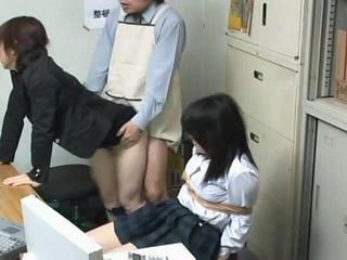 Asian Bondage Clothed Office