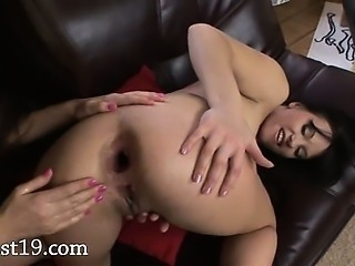 Brutal anal fisting with gapped analhole