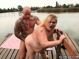 Amateur  Beach Doggystyle Mature Mom Old and Young Outdoor Public