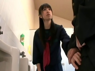 Asian Handjob Japanese Student Teen Toilet Uniform