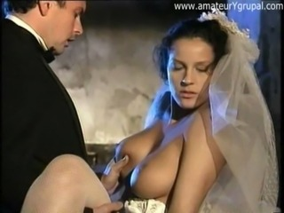 Amazing Big Tits Bride  Natural Pornstar Vintage