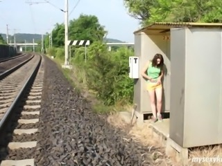 Masturbating Outdoor Public Teen