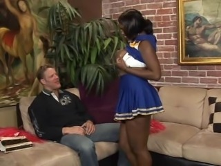 Cheerleader Chubby Ebony Interracial  Uniform