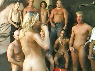 Babe European French Gangbang