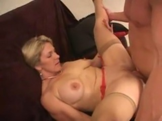 Hardcore Mature Mom SaggyTits Stockings
