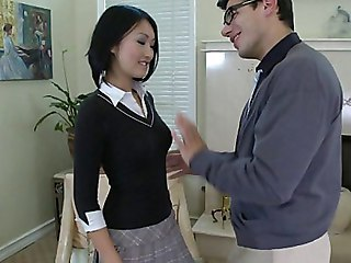 Asian Babe Cute Interracial Student Teacher Teen Uniform