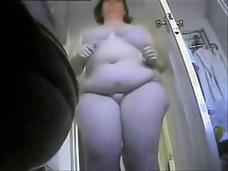 Hidden cam placed in toilet caught my fat mum