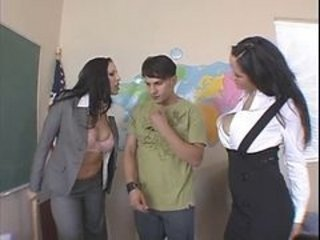 Big Tits  Old and Young School Teacher Threesome