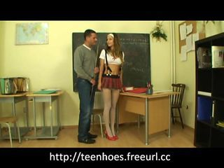 Teacher fucks school girl