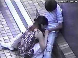 Asian Blowjob Clothed Girlfriend Outdoor Public Voyeur
