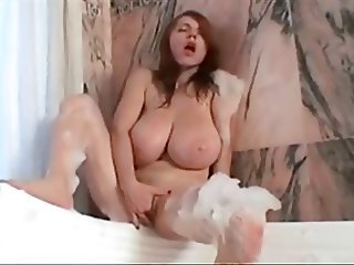 Bathroom Big Tits Masturbating Natural Orgasm  Solo Teen