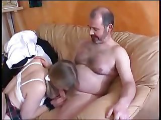 Blowjob Daddy Daughter European French Old and Young Teen
