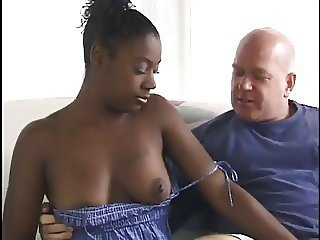 Daddy Ebony Interracial Old and Young Small Tits Teen