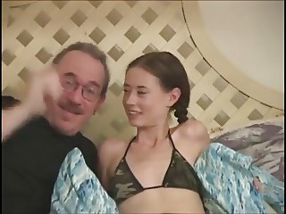 Daddy Daughter Old and Young Skinny Small Tits Teen