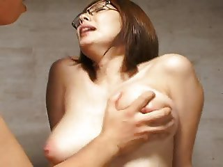 Asian Glasses Japanese  Natural Orgasm Teacher