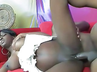 MILKY XXX Glib EBONY IN ACTION