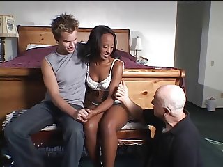 Cuckold Ebony Interracial Lingerie  Old and Young