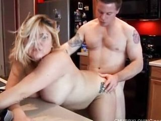 Big tits blonde BBW done doggy style