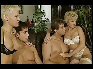 European German Groupsex Lingerie  Mom Old and Young Swingers Wife