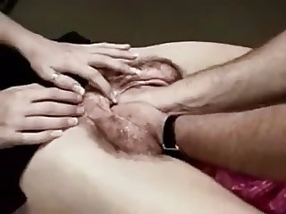 Excellent Fake ! Head in Giant Hairy Pussy Fisting 2
