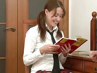Cute Pigtail Student Teen Uniform