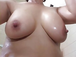 Asian Bathroom  Japanese Mom Natural Nipples Old and Young