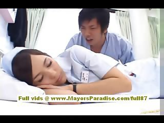Asian Babe Cute Nurse Sleeping Uniform