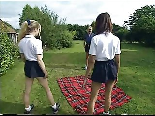 Lesbian Old and Young Outdoor Skirt Sport Student Teacher Teen Uniform