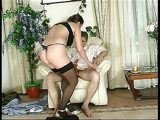 Handjob  Mom Old and Young Stockings