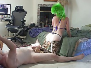 Cosplay Footjob in Tights HD