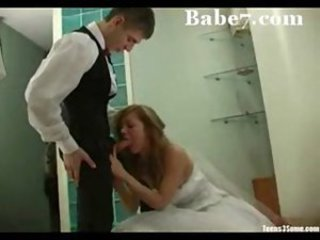 Blowjob Bride Clothed Teen