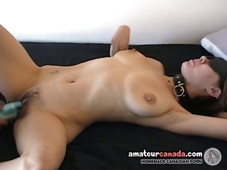 Hairy Big Tit Milf Blindfolded Submissive Fingering