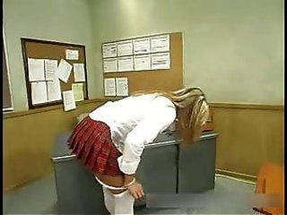 The teacher showed a naughty schoolgirl estim