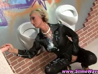 Fetish Gloryhole Bukkake Blonde
