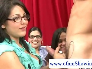 Babe  Glasses Handjob
