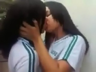 Amateur Indian Kissing Student