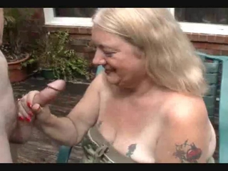 Redneck Granny Takes Dong To The Head