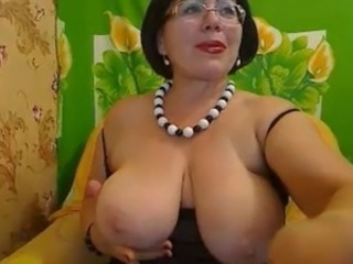 Big Tits Glasses Mature Mom Natural  Webcam