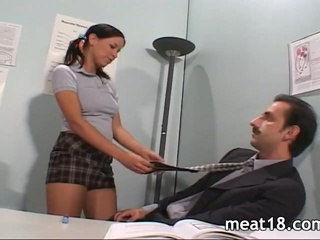 Daddy Old and Young Pigtail Student Teacher Teen