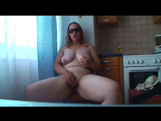 Amateur  Big Tits Homemade Kitchen Masturbating  Natural  Wife