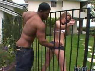 Ass Interracial Outdoor Teen