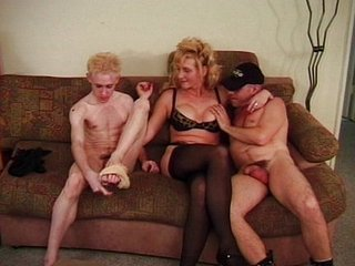 Two hot boys and a lady