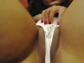 Ebony Lingerie Masturbating Panty Webcam