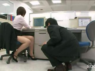 Asian Japanese Legs  Office Secretary