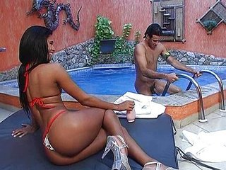 After swimming it's time for Latin ass