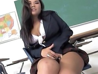 Asian Babe Pornstar School Student Uniform